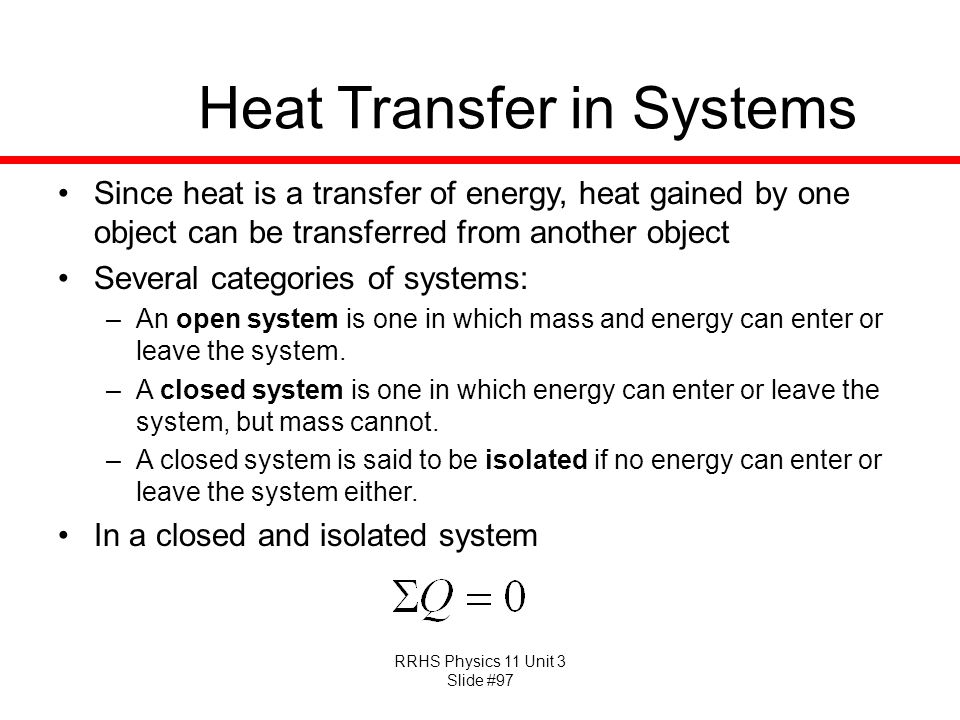 Heat Transfer in Systems