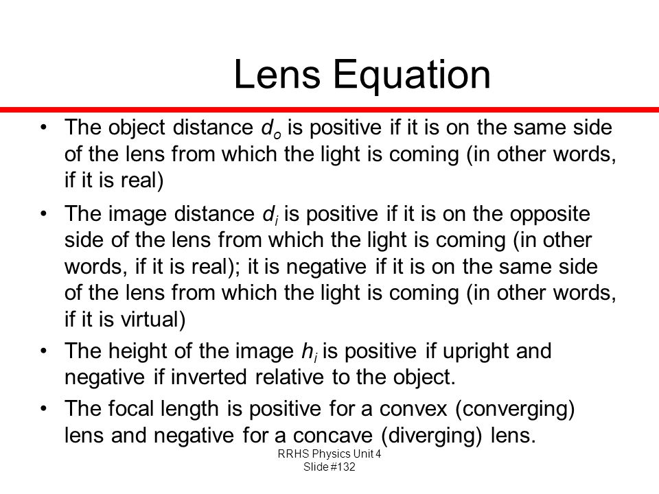 Lens Equation
