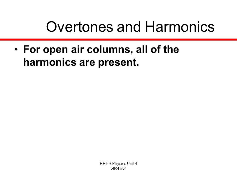 Overtones and Harmonics