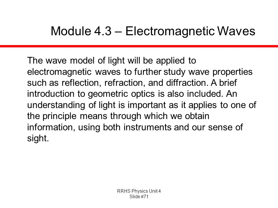 Module 4.3 – Electromagnetic Waves