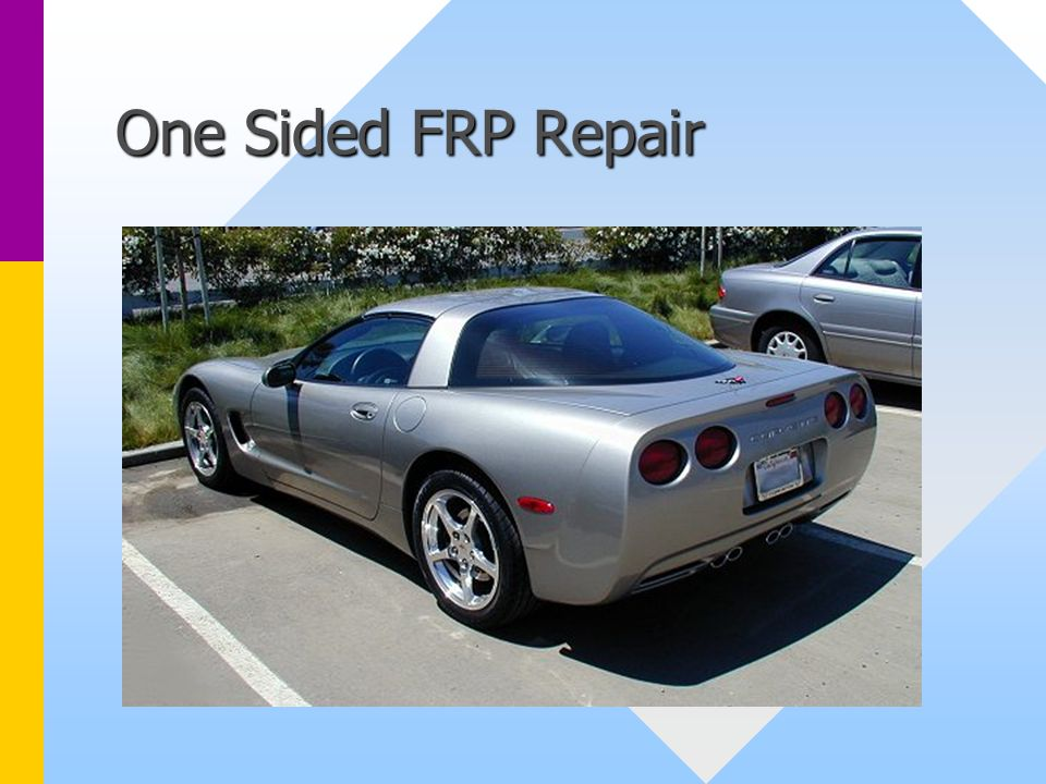 One Sided FRP Repair