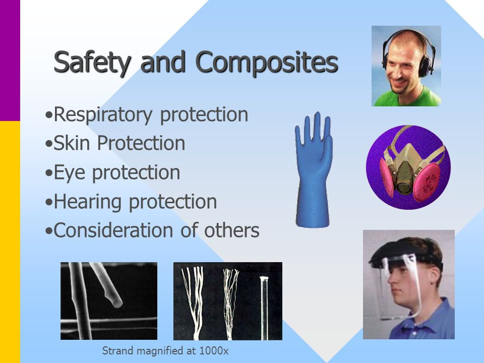 Safety and Composites Respiratory protection Skin Protection