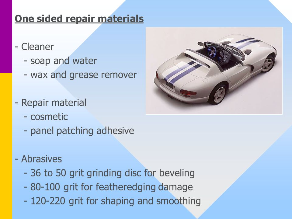 One sided repair materials