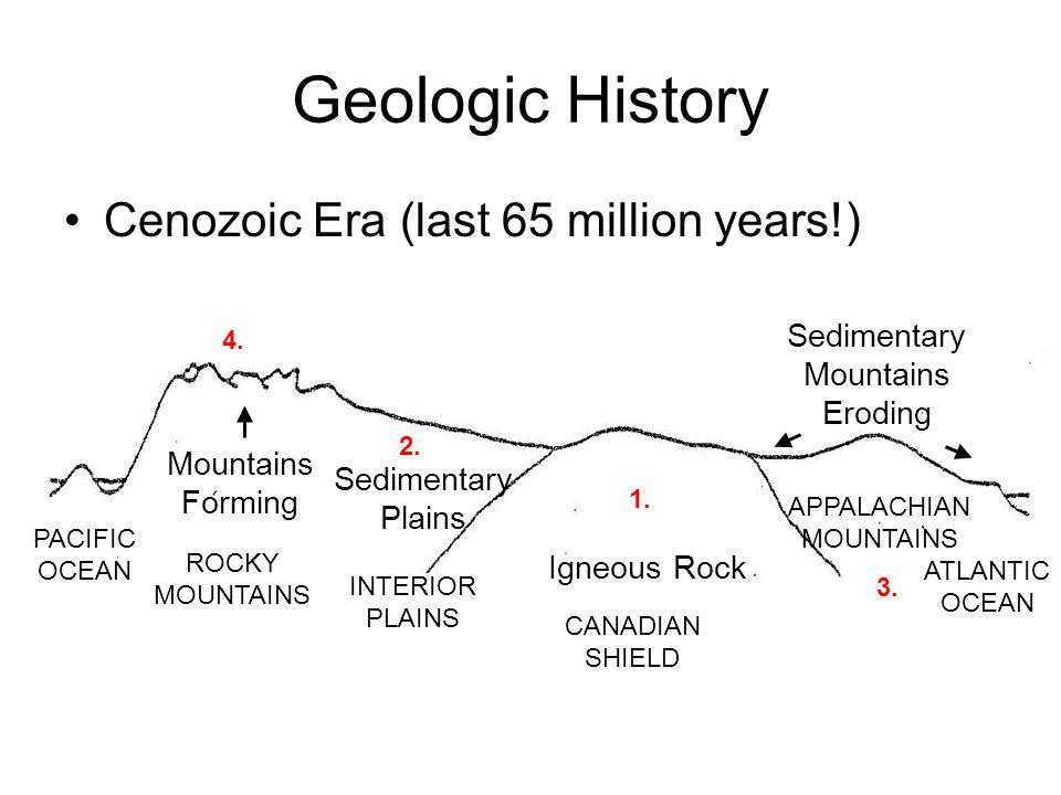 Geologic History Cenozoic Era (last 65 million years!)