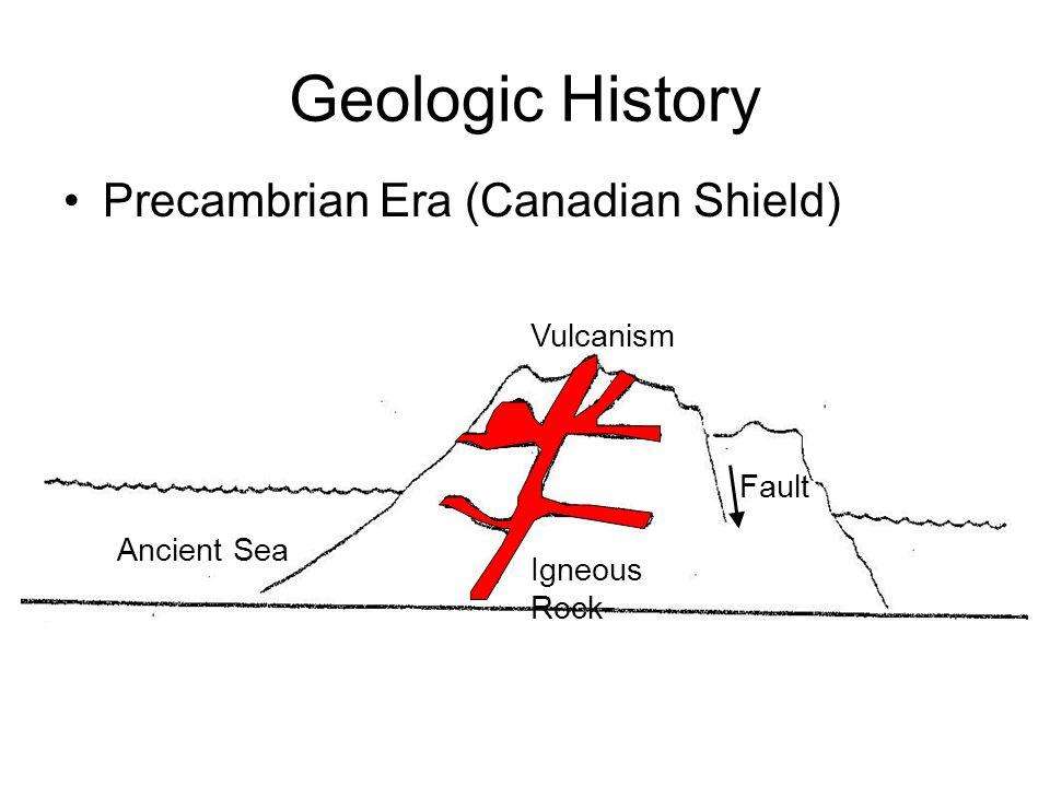 Geologic History Precambrian Era (Canadian Shield) Vulcanism Fault