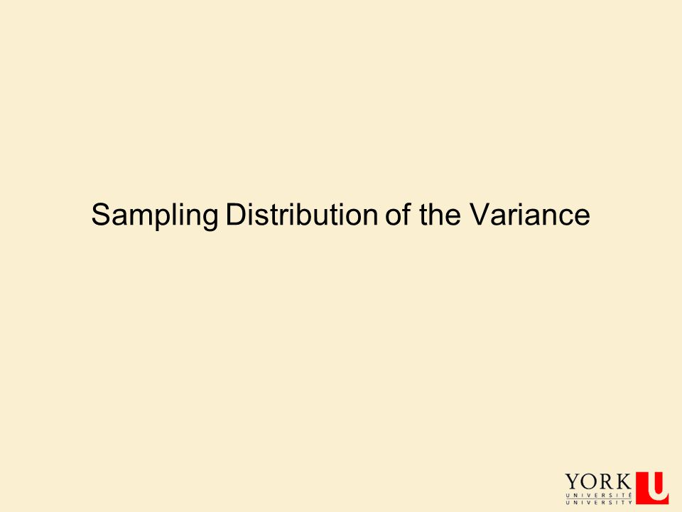 Sampling Distribution of the Variance