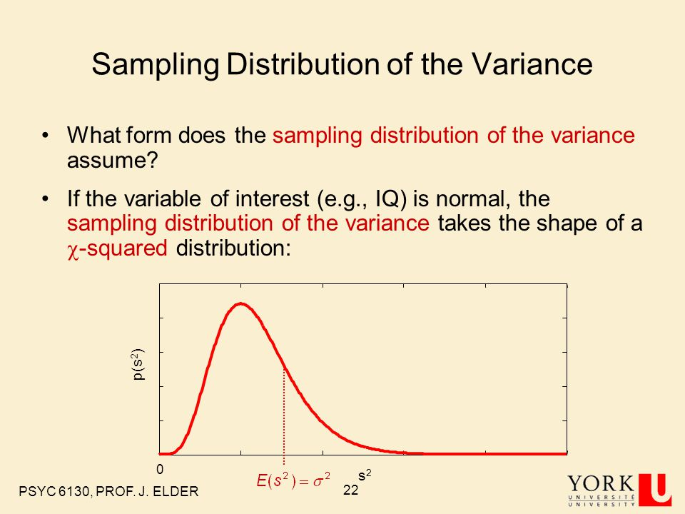 Sampling Distribution of the Variance