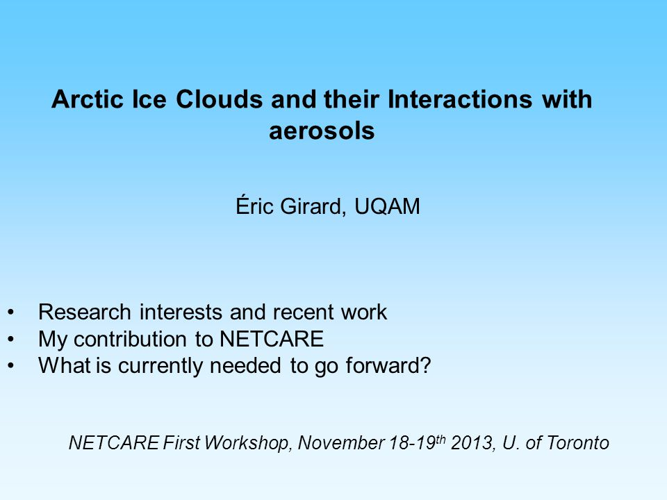 Arctic Ice Clouds and their Interactions with aerosols