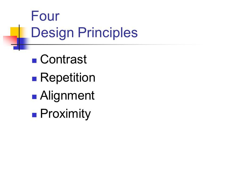 Four Design Principles