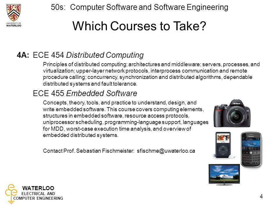 Which Courses to Take 4A: ECE 454 Distributed Computing