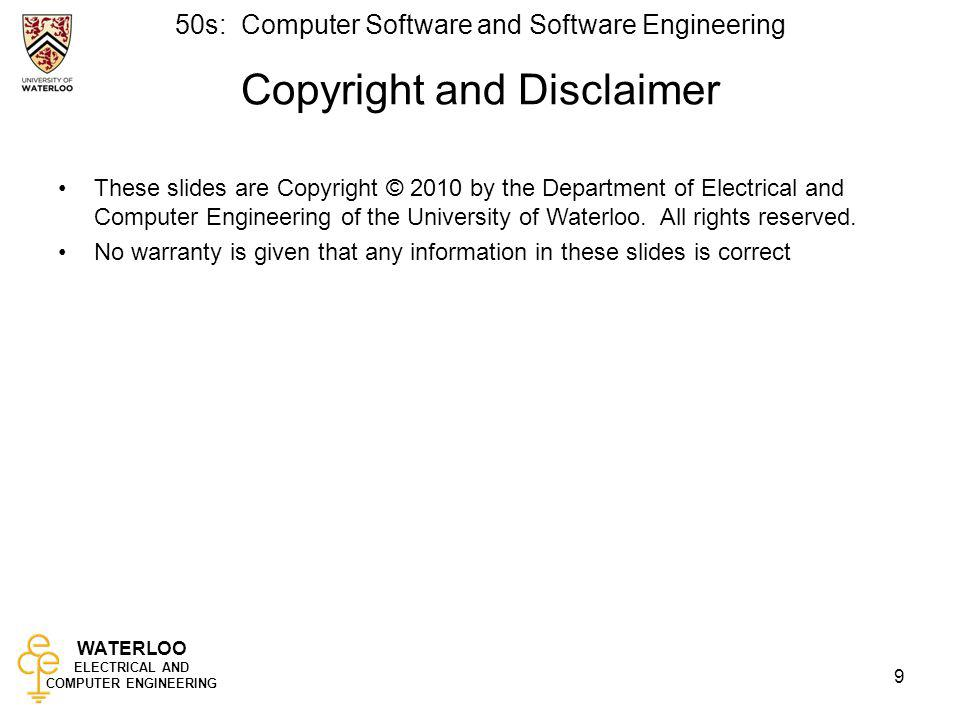 Copyright and Disclaimer