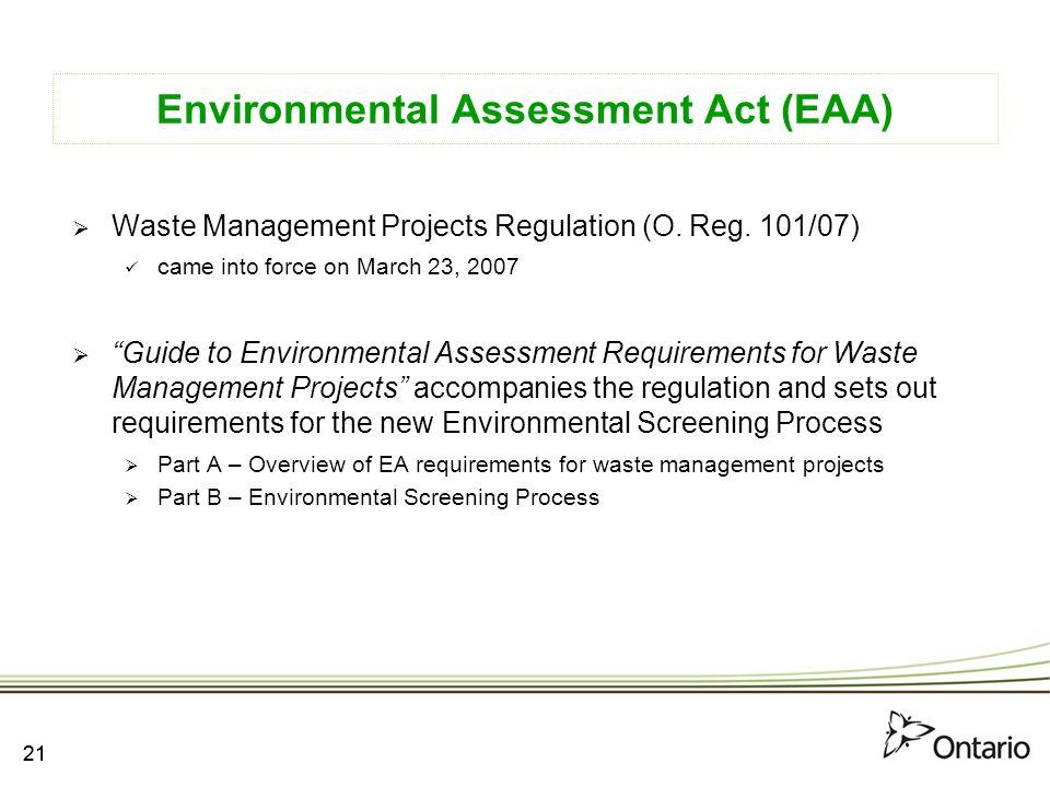 Environmental Assessment Act (EAA)