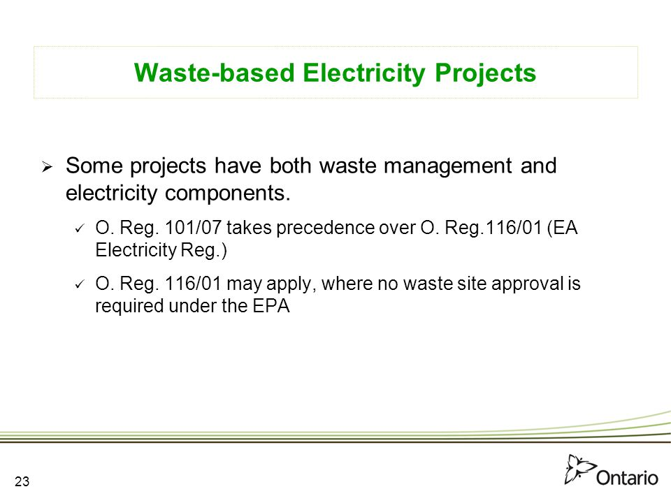 Waste-based Electricity Projects