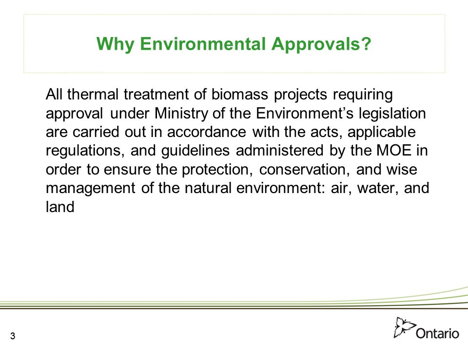 Why Environmental Approvals