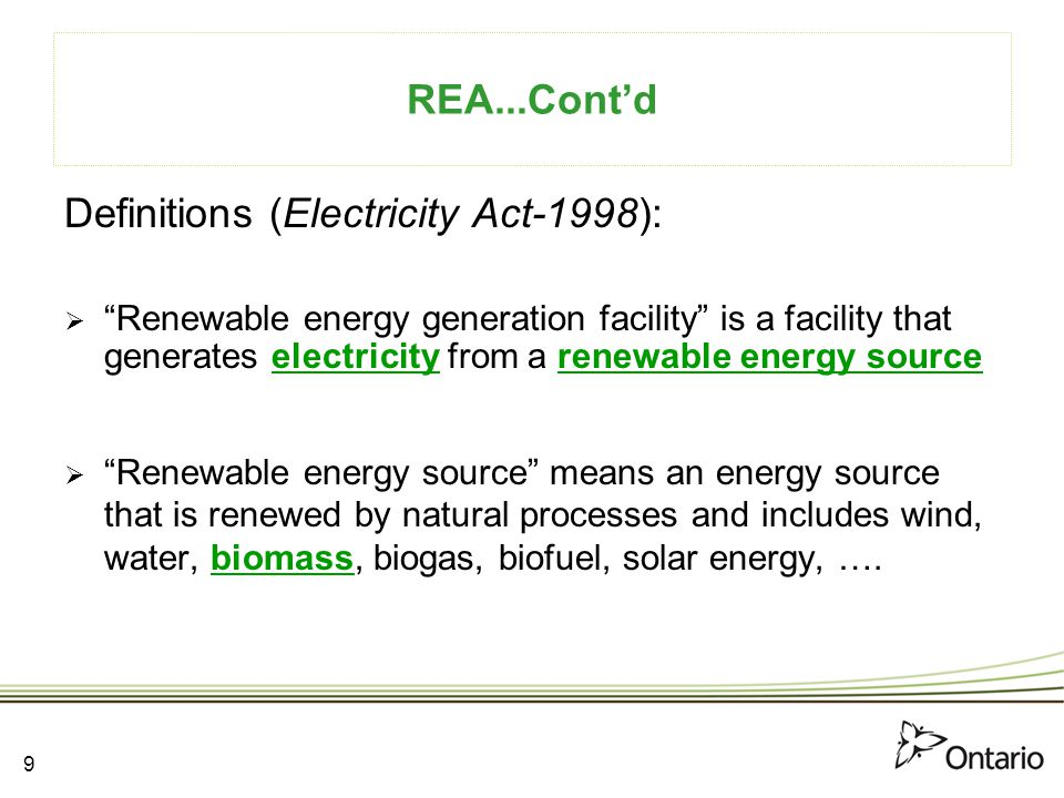 Definitions (Electricity Act-1998):