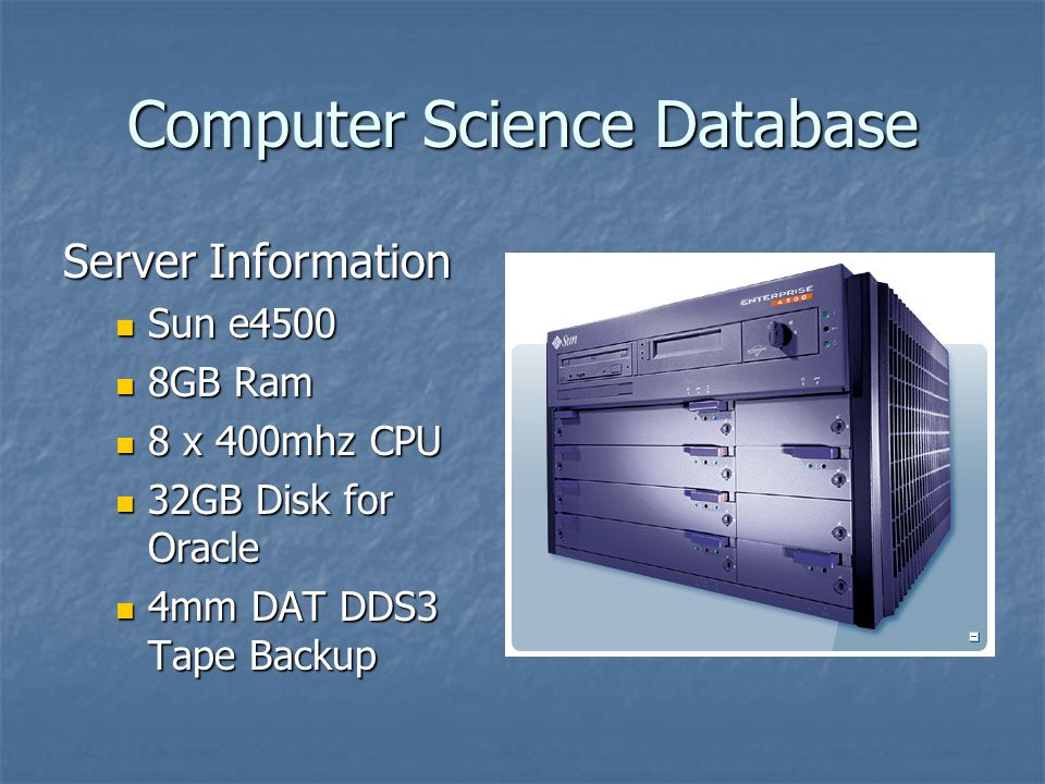 Computer Science Database