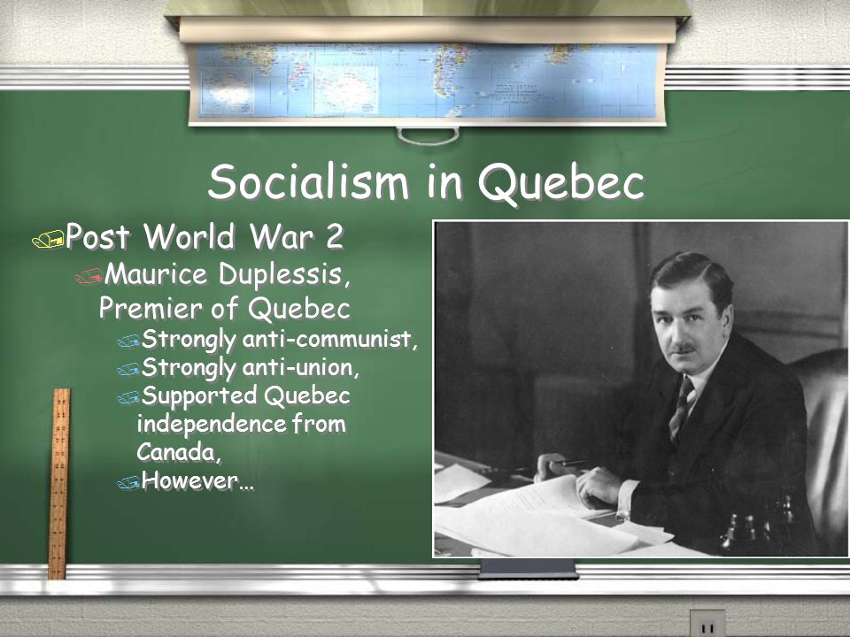 Socialism in Quebec Post World War 2