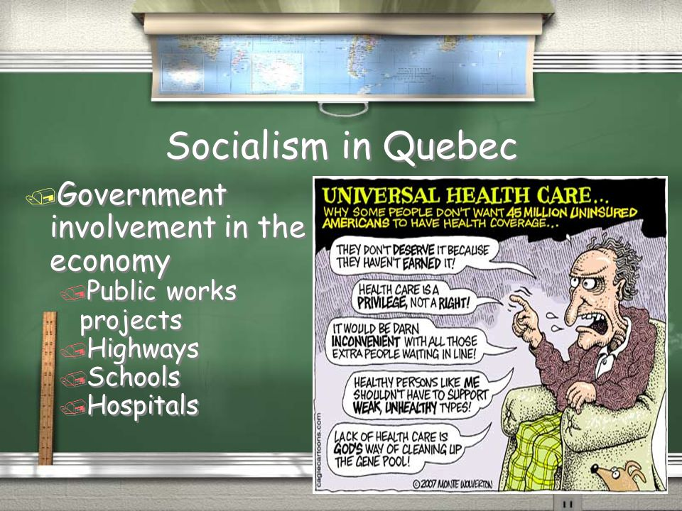 Socialism in Quebec Government involvement in the economy