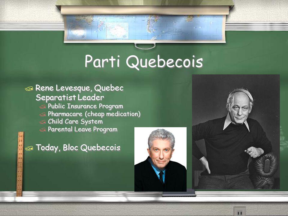 Parti Quebecois Rene Levesque, Quebec Separatist Leader