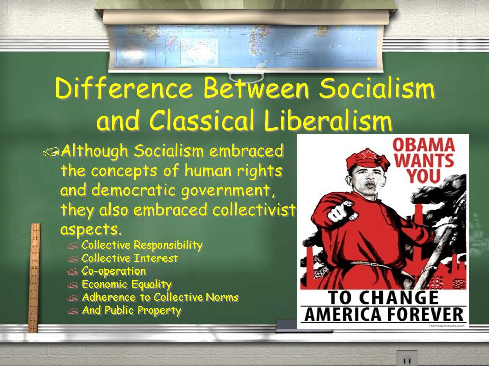 Difference Between Socialism and Classical Liberalism