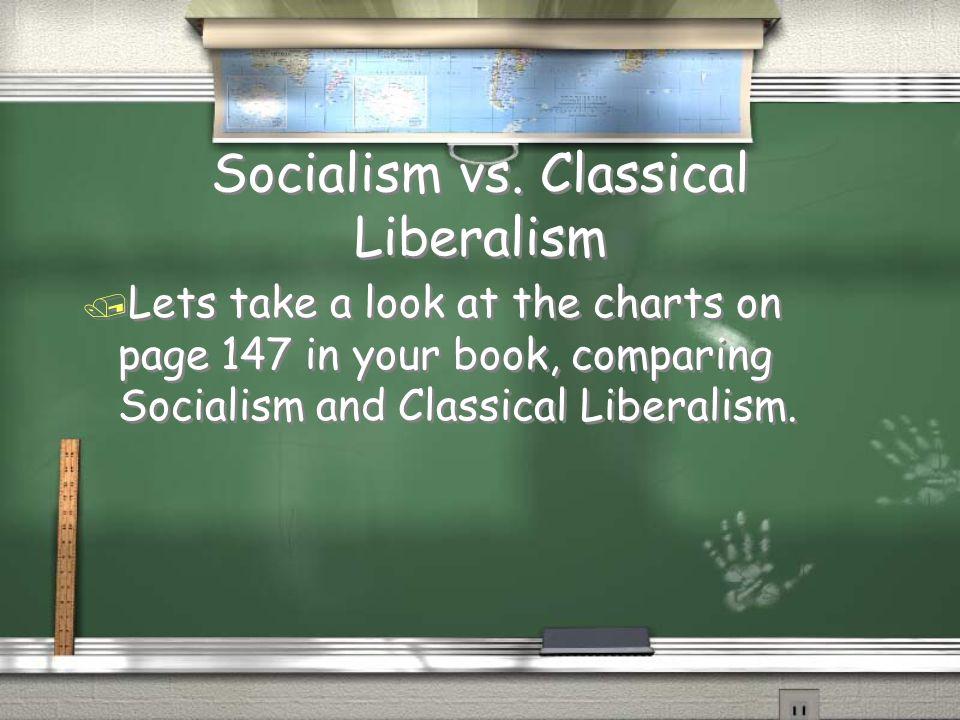 Socialism vs. Classical Liberalism