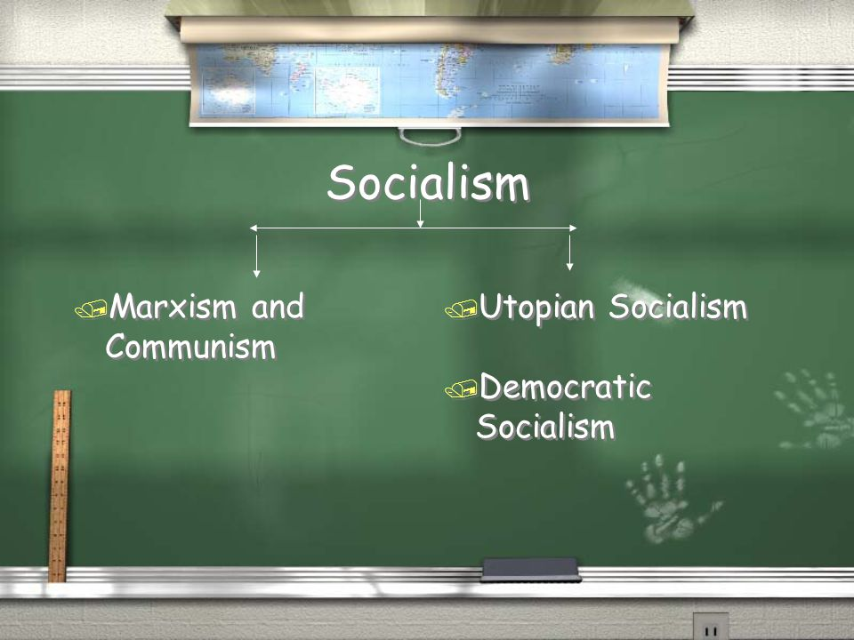 Socialism Marxism and Communism Utopian Socialism Democratic Socialism