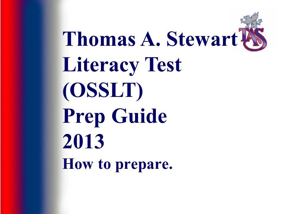 Thomas A. Stewart Literacy Test (OSSLT) Prep Guide 2013