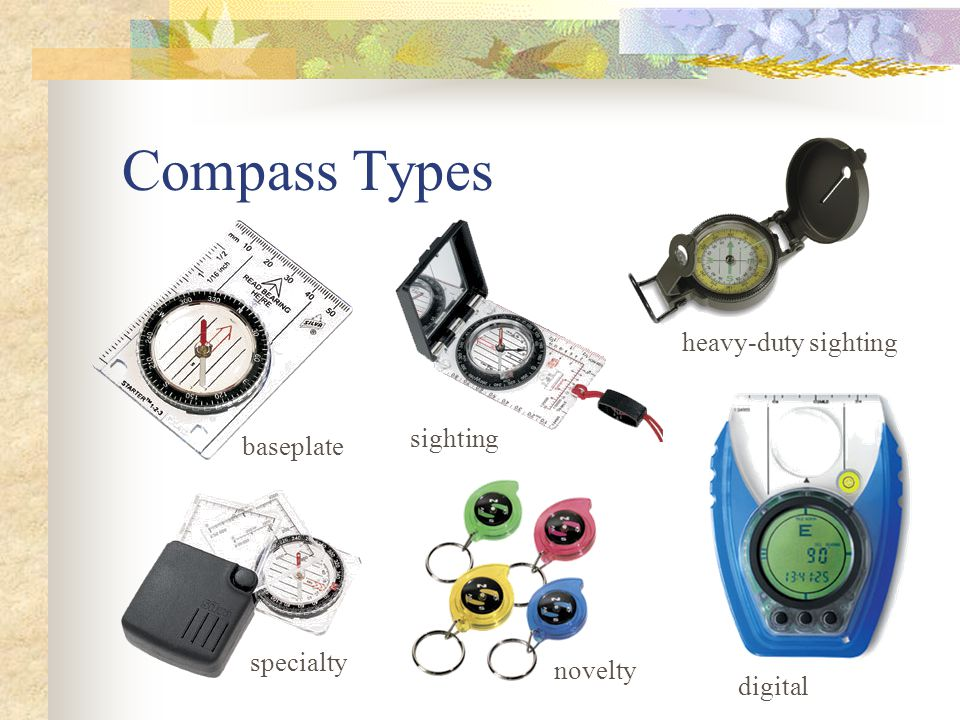 Compass Types heavy-duty sighting sighting baseplate specialty novelty