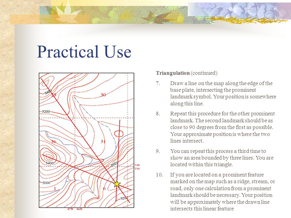 Practical Use Triangulation (continued)