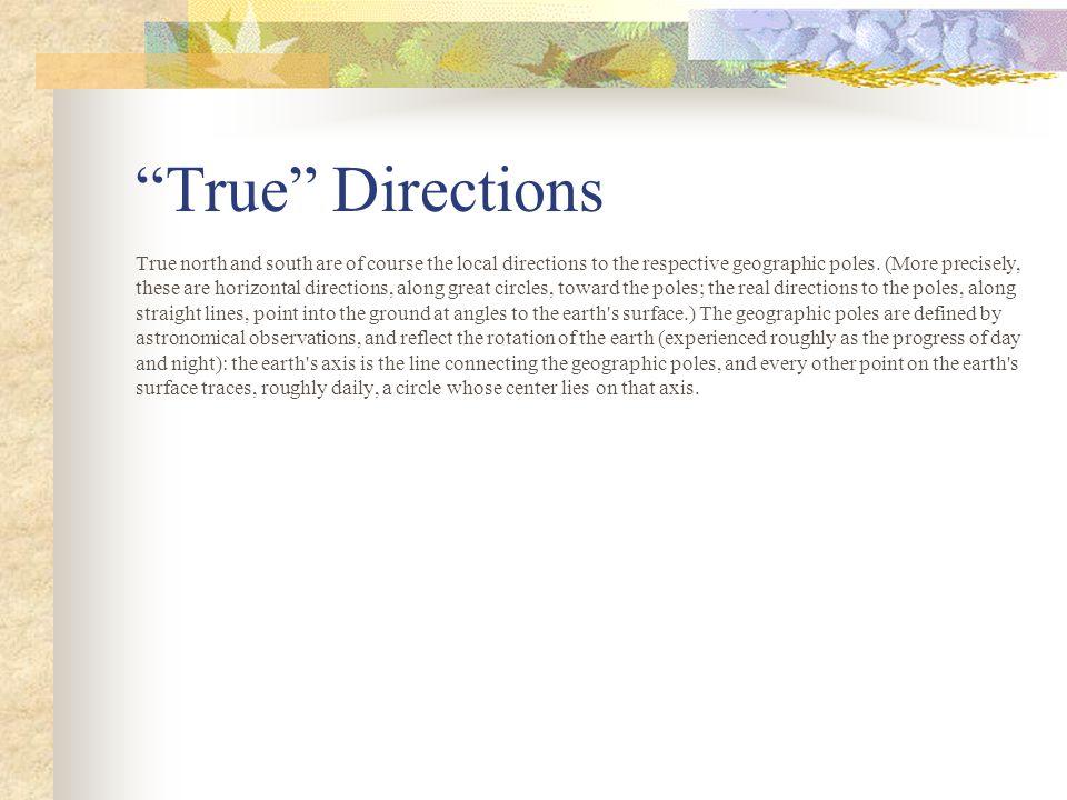 True Directions