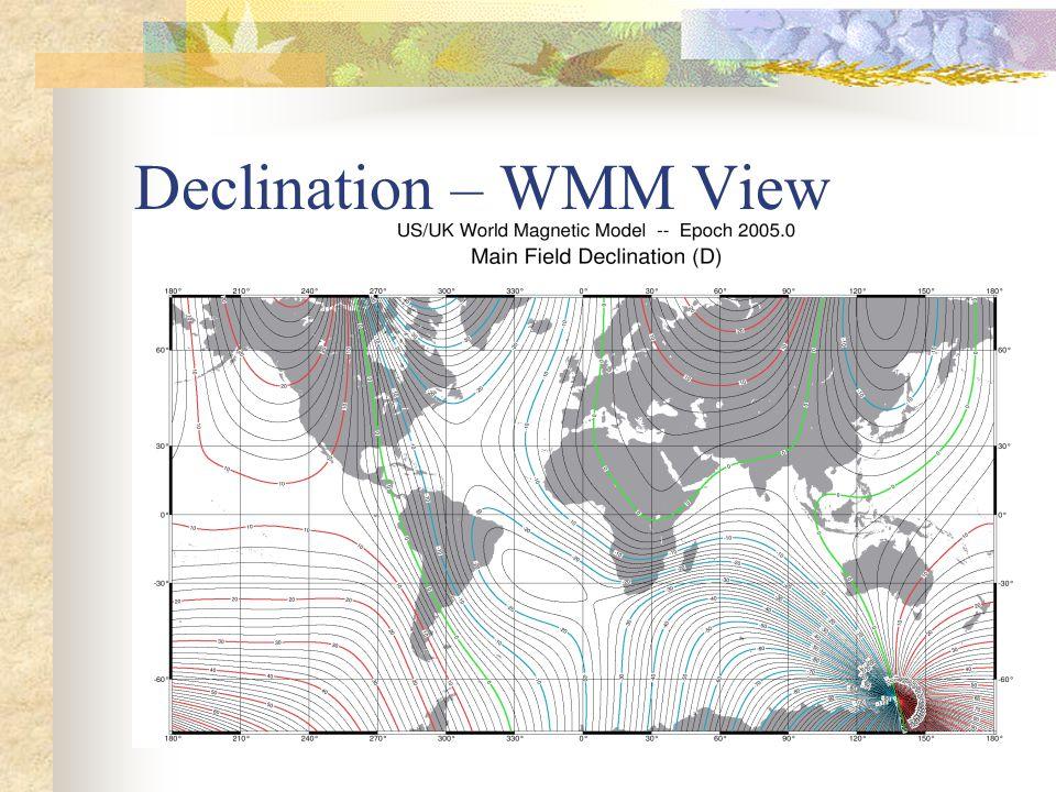Declination – WMM View