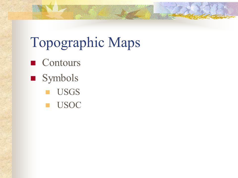 Topographic Maps Contours Symbols USGS USOC