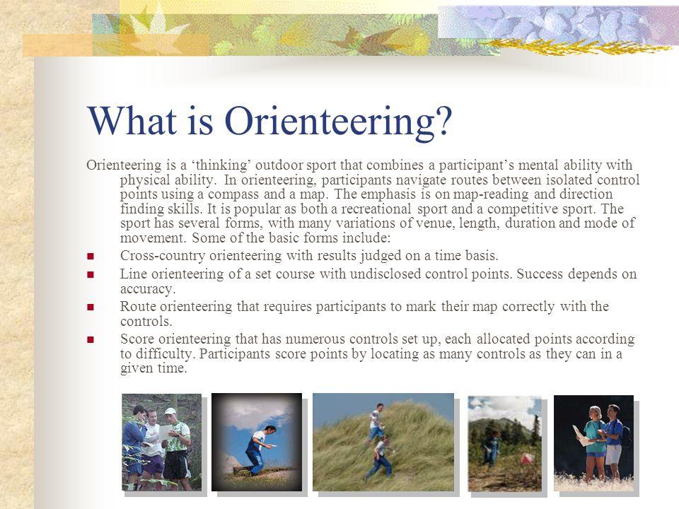 What is Orienteering