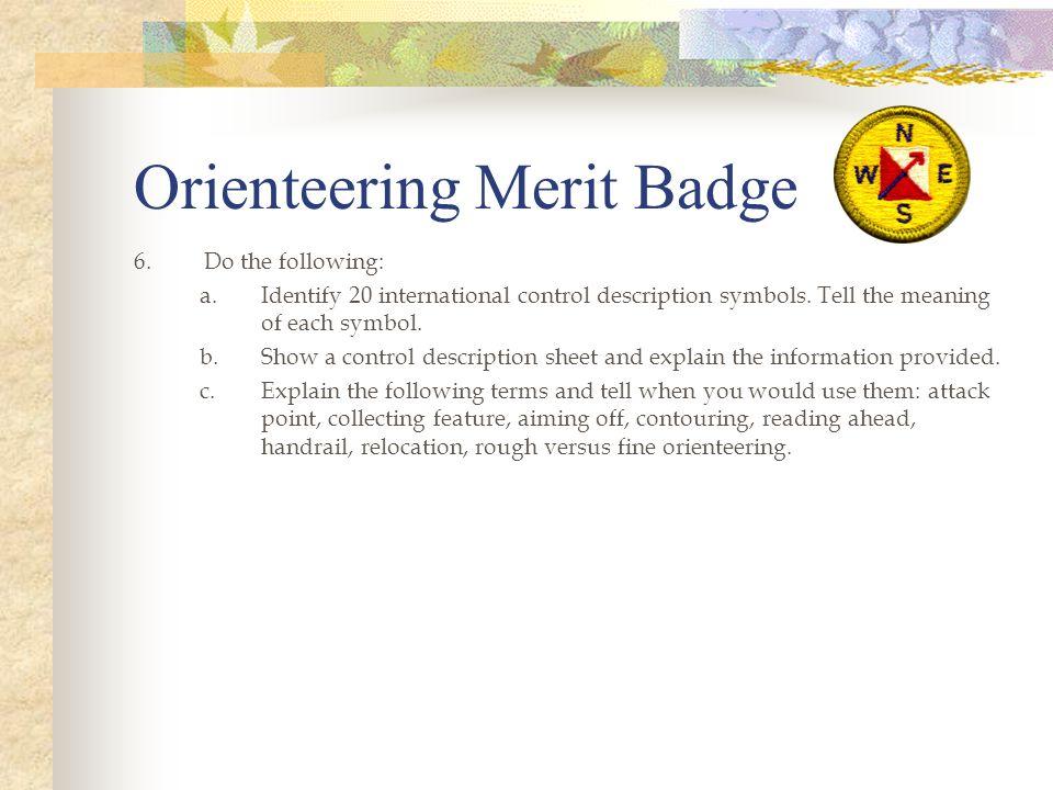 Orienteering Merit Badge