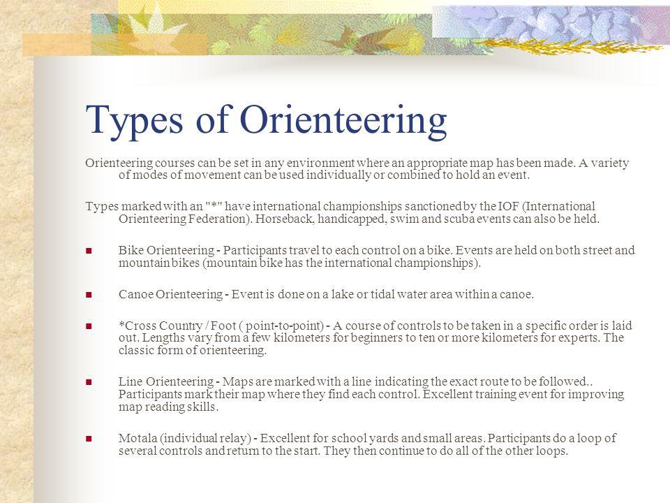 Types of Orienteering