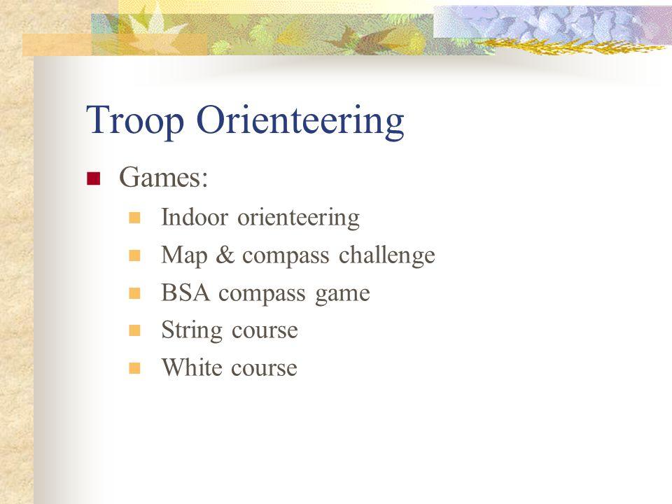 Troop Orienteering Games: Indoor orienteering Map & compass challenge