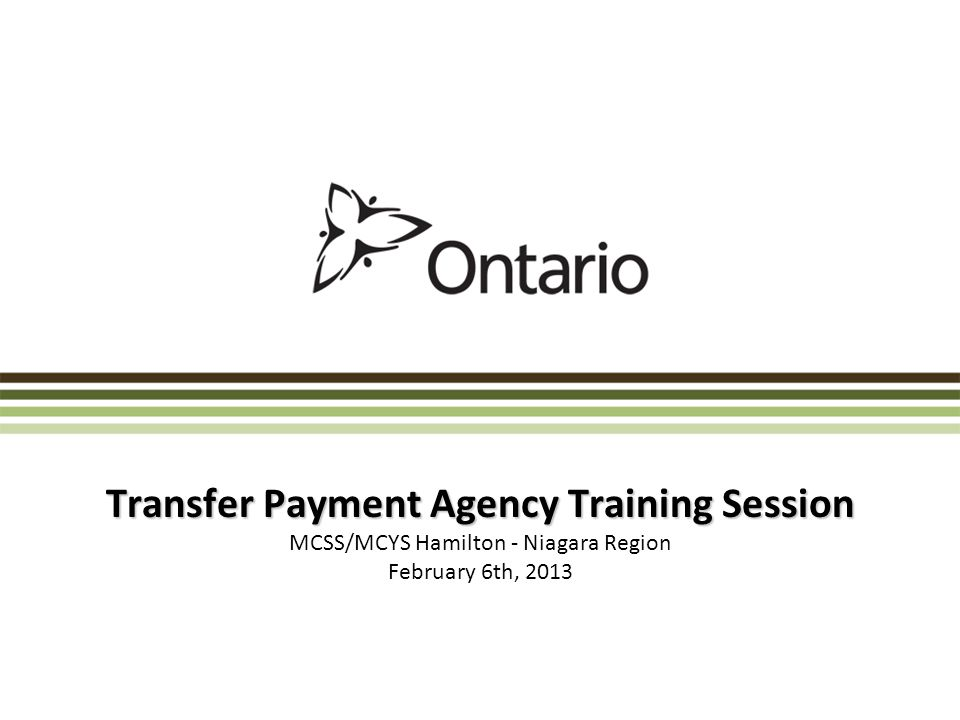 Transfer Payment Agency Training Session