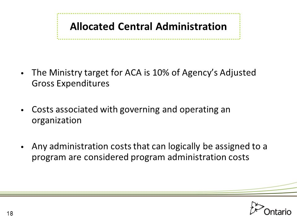 Allocated Central Administration