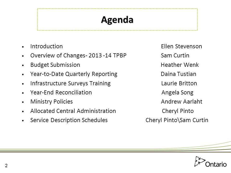 Agenda Introduction Ellen Stevenson