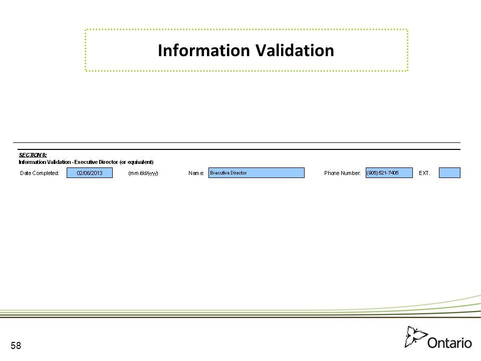 Information Validation