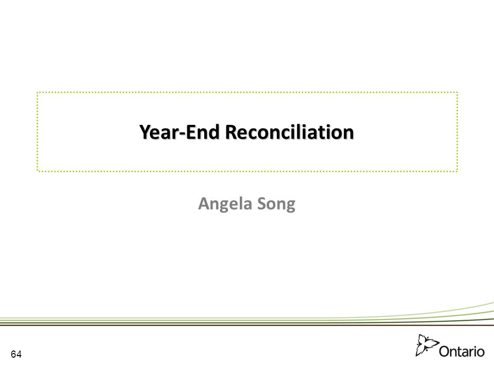 Year-End Reconciliation
