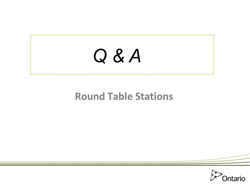 Q & A Round Table Stations