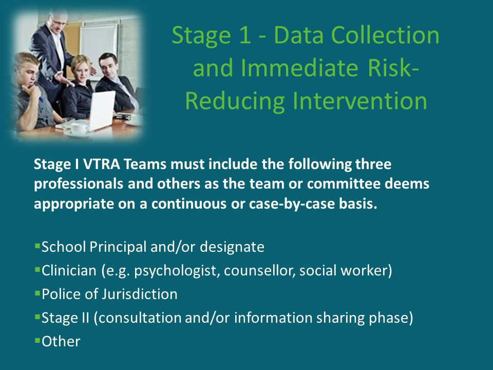 Stage 1 - Data Collection and Immediate Risk-Reducing Intervention