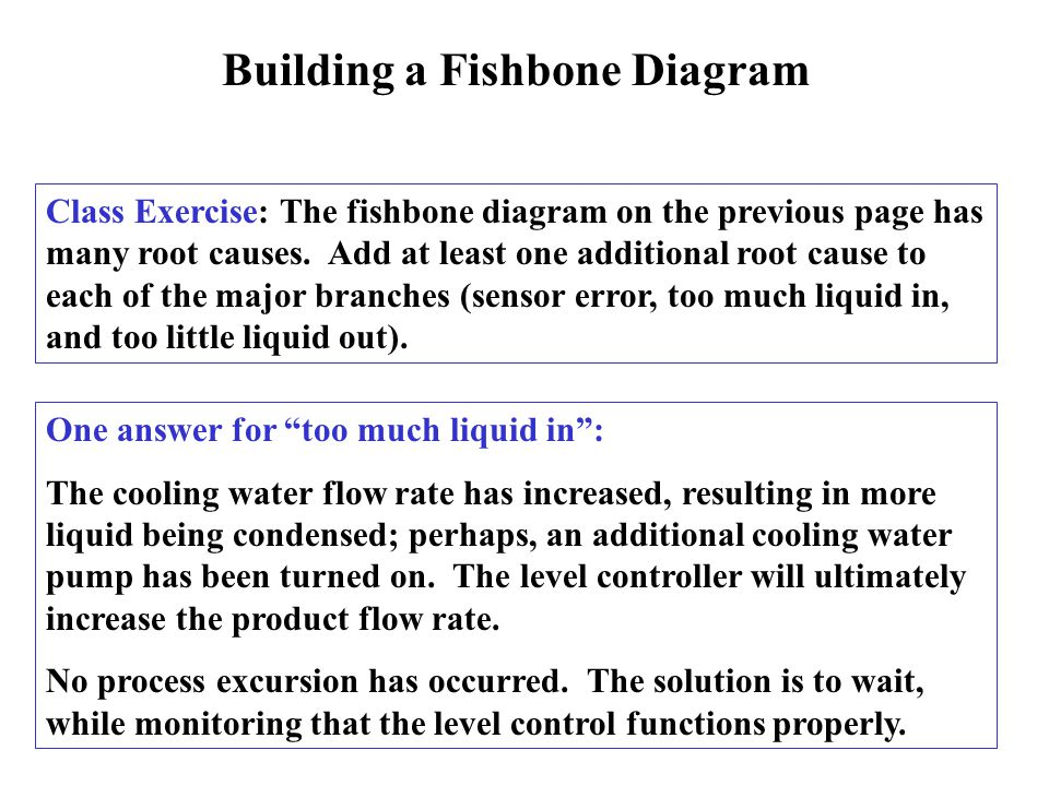 Building a Fishbone Diagram