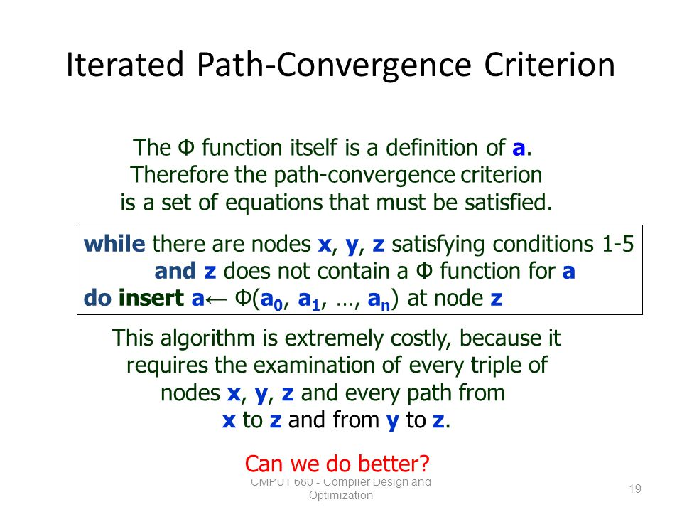 Iterated Path-Convergence Criterion