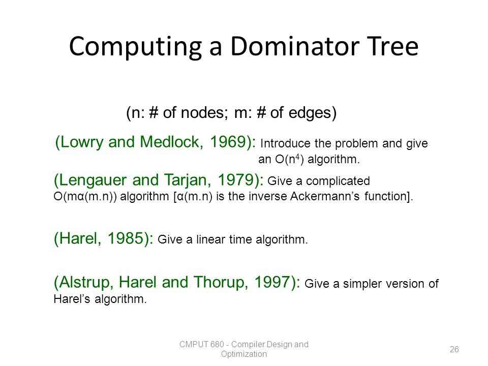 Computing a Dominator Tree