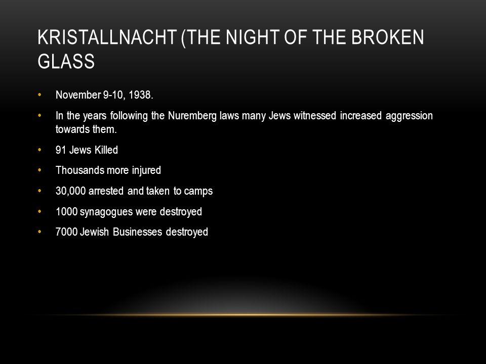 Kristallnacht (The Night of the Broken Glass
