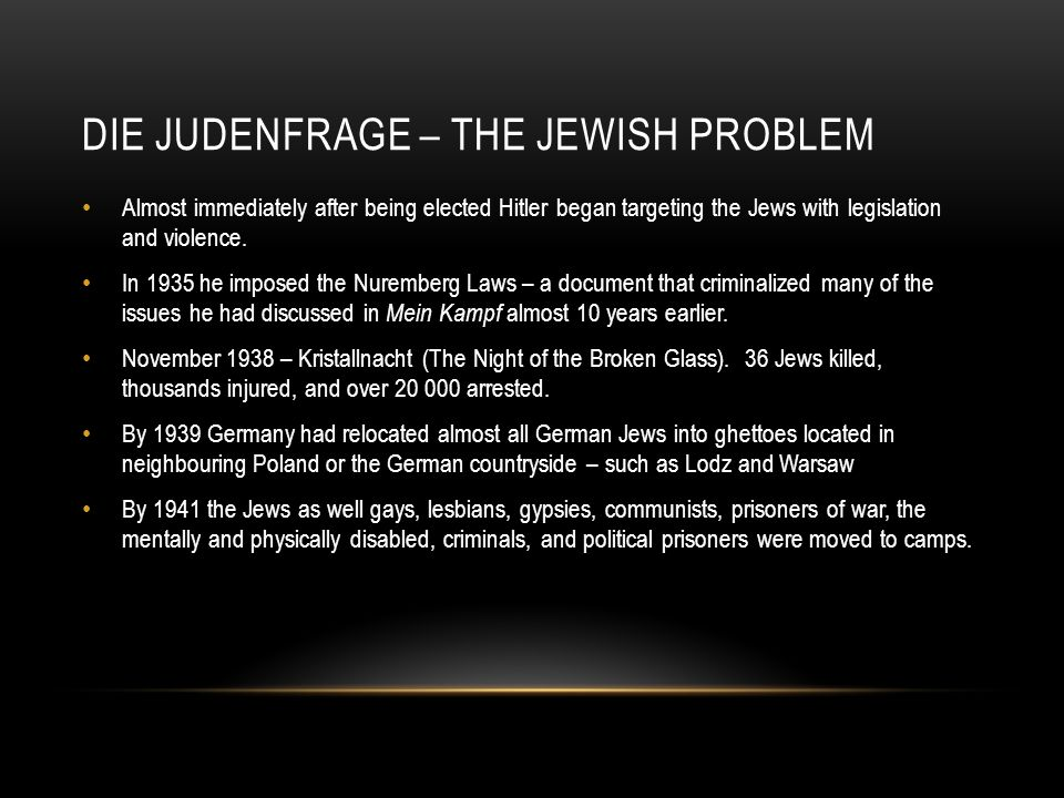 Die Judenfrage – The Jewish problem