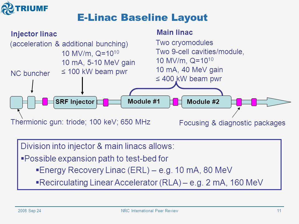 E-Linac Baseline Layout