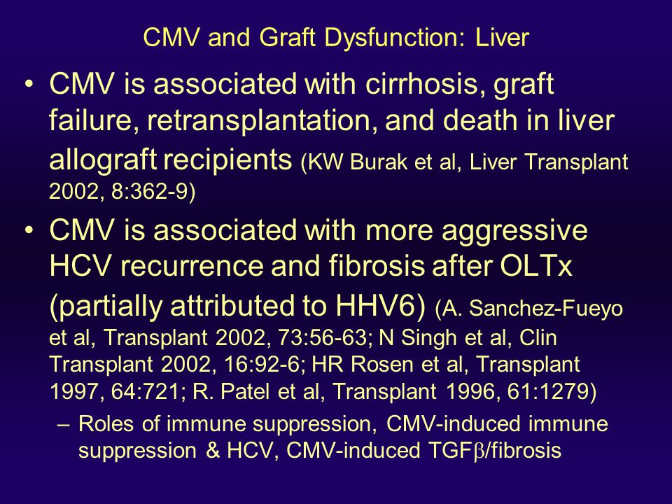 CMV and Graft Dysfunction: Liver